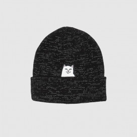 Шапка RIPNDIP Lord Nermal Rib Beanie Black Reflective Yarn