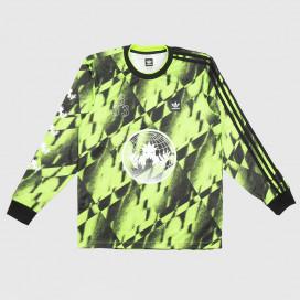 Лонгслив Adidas AOP Club Jrsy 2 SGreen/Black