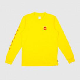 Лонгслив Adidas Evisen Tee Yellow/Scarlet