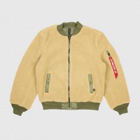 Куртка женская Alpha Ind. L-2B Sherpa Flight Jacket Cream