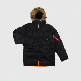 Куртка Alpha Ind. Slim Fit N-3B Black