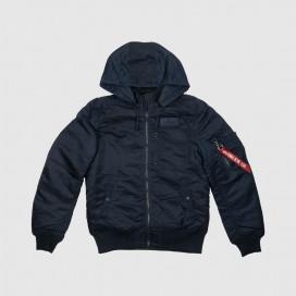 Куртка Alpha Ind. MA-1 Hooded Rib Replica Blue