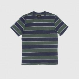 Футболка Brixton Hilt WSHD S/S PKT Knit Pine/Navy