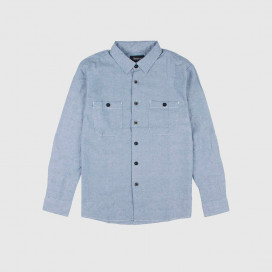 Рубашка Brixton Reeve L/S WVN Light Blue