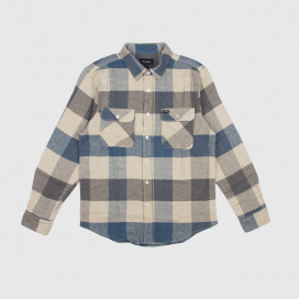 Рубашка Brixton Bowery L/S Flannel Off White/Dustly Blue