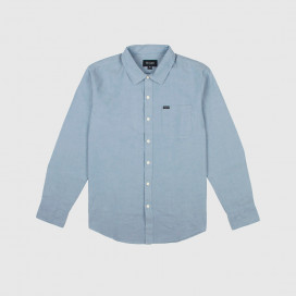 Рубашка Brixton Charter Oxfort L/S WVN Light Blue Chambray