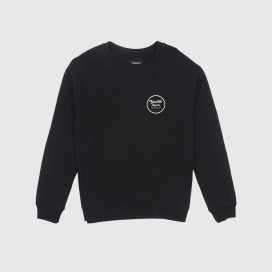 Толстовка Brixton Wheeler Crew Fleece Black/White