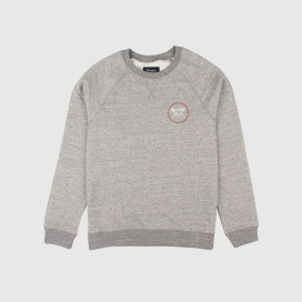 Толстовка Brixton Wheeler Crew Fleece Heather Grey/Brick