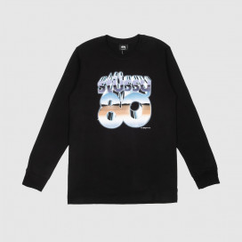 Лонгслив Stussy 80 Chrome LS Tee Black