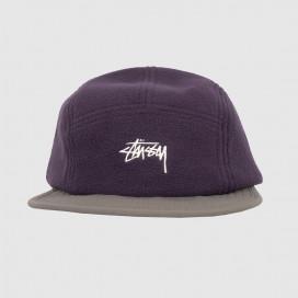 Кепка Stussy Fleece Nylon Mix Camp Cap Purple