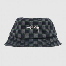 Панамка Stussy Brent Check Woll Bucket Hat Green