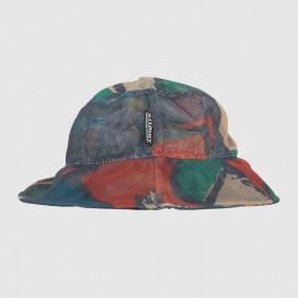 Панамка Stussy Block Print Mesh Bucket Hat Multi