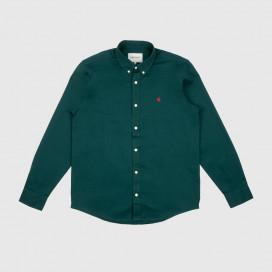 Рубашка Carhartt WIP L/S Madison Shirt Dark Fir/Merlot