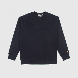 Толстовка Carhartt WIP Chase Sweat Dark Navy / Gold