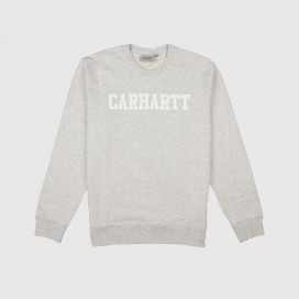 Толстовка Carhartt WIP College Sweat Ash Heather / White