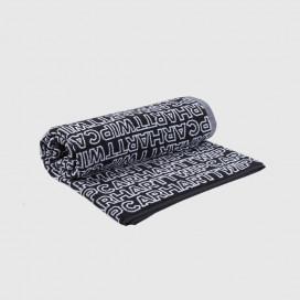 Полотенце Carhartt WIP Typo Towel Typo Print, Black / White