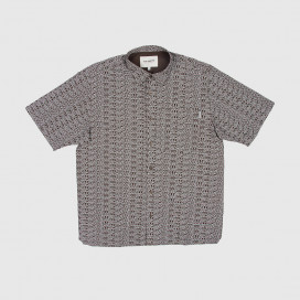Рубашка Carhartt WIP S/S Typo Shirt Typo Print, Tobacco / Wax