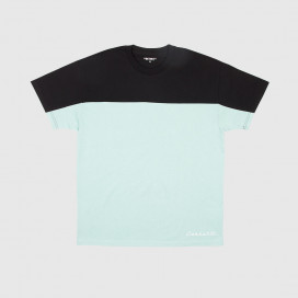 Футболка Carhartt WIP S/S Block Retro Script T-Shirt Black / Soft Aloe / White