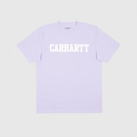 Футболка Carhartt WIP S/S College T-Shirt Soft Lavender / White