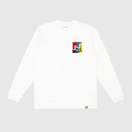 Лонгслив Carhartt WIP L/S Patchwork T-Shirt White