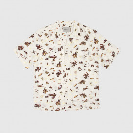 Рубашка Carhartt WIP S/S Club Pacific Shirt Club Pacific Print, Wax