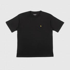 Футболка Женская Carhartt WIP W' S/S Chasy T-Shirt Black/Gold