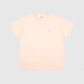 Футболка Carhartt WIP W' S/S Chasy T-Shirt Powdery/Gold
