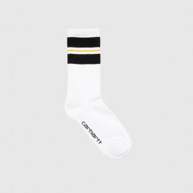 Носки Carhartt WIP Norwood Socks (6 Minimum) Black / White / Pop Orange