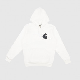 Толстовка с капюшоном Carhartt WIP Hooded Mirror Sweatshirt White/Black