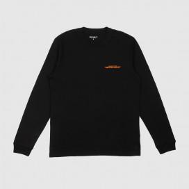 Лонгслив Carhartt WIP L/S International Operations T-Shirt Black/Orange