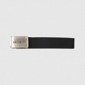 Ремень Carhartt WIP Clip Belt Chrome (12 Minimum) Black