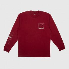 Лонгслив Carhartt WIP L/S Dreaming T-Shirt Cranberry / Light Yucca