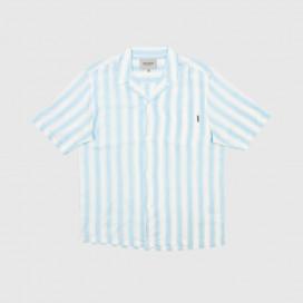 Рубашка Carhartt WIP S/S Esper Shirt Esper Stripe Capri / Wax