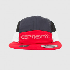 Кепка Carhartt WIP Terrace Cap  Cardinal / Dark Navy / White / Black