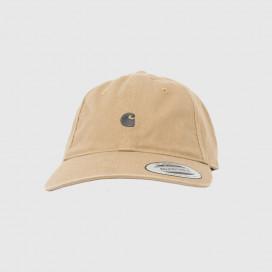 Кепка Carhartt WIP Madison Logo Cap Leather / Dark Navy