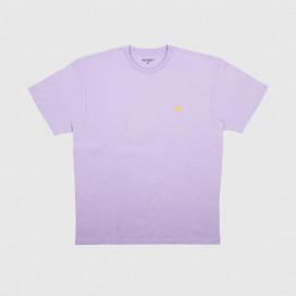 Футболка Carhartt WIP S/S Chase T-Shirt Soft Lavander/Gold