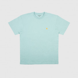 Футболка Carhartt WIP S/S Chase T-Shirt Soft Aloe/Gold