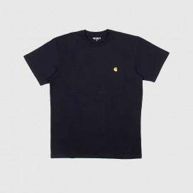 Футболка Carhartt WIP S/S Chase T-Shirt Dark Navy/Gold