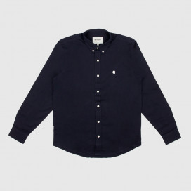 Рубашка Carhartt WIP L/S Madison Shirt Dark Navy/Wax