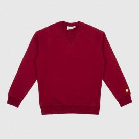 Толстовка Carhartt WIP Chase Sweatshirt Cranberry/Gold