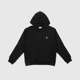 Толстовка с капюшоном Carhartt WIP Hooded American Script Sweatshirt Black