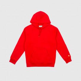 Толстовка с капюшоном Carhartt WIP Hooded Chase Sweatshirt Cardinal / Gold