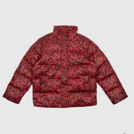 Куртка женская Carhartt WIP Deming Jacket Panther Print, Blast Red / Black