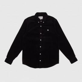 Рубашка Carhartt WIP L/S Madison Cord Shirt Black/White
