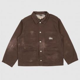 Куртка Stussy Spotted Bleach Chore Jacket Brown