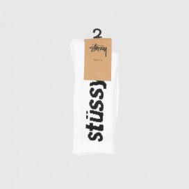 Носки Stussy Helvetica Jacquard Crew White