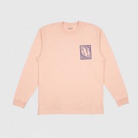 Лонгслив Carhartt WIP L/S Foundation T-Shirt Powdery/ Blue