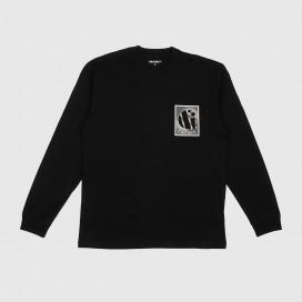 Лонгслив Carhartt WIP L/S Foundation T-Shirt Black/White