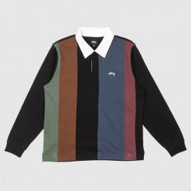 Рубашка Stussy Vert Stripe LS Rugby Black