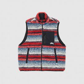 Жилетка Stussy Striped Sherpa Vest Multi